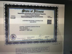 2019 Roofing License